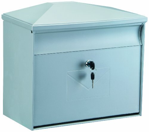 Rottner 4559 Toronto Large Capacity Front Loading Weatherproof Plastic Mailbox - Silver by DG Eyewear