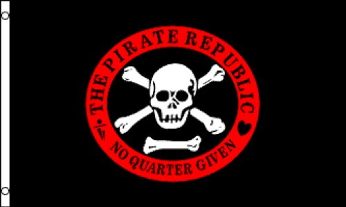 Pirate Republic  Flag 3x5ft Poly