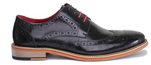 cuir Reece chaussures pour homme PN12 Justin Black mat D200 en 6 CanZqHwC
