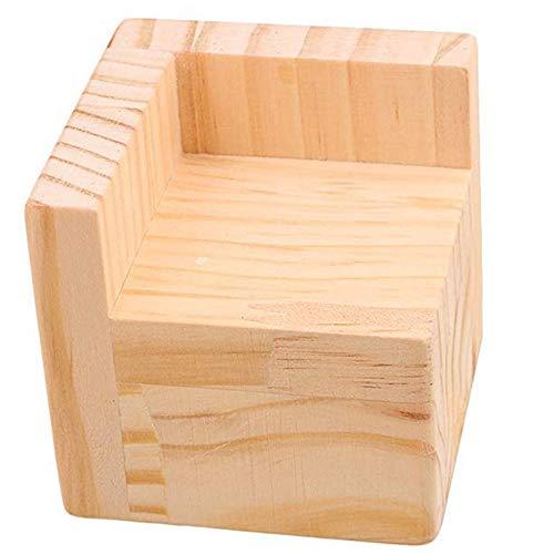 L-Shaped Semi-Closed Lift Feet Wood Bed Desk Riser Lifter Table Furniture Soft Feet Lifts Storage (6x6x3cm)