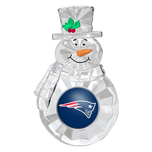 NFL New England Patriots Traditional Snowman Ornament Nfl Football Snowman Ornament