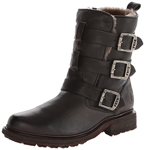Image of FRYE Women's Valerie Sherling Strappy Ankle Boot, Black, 8.5 M US