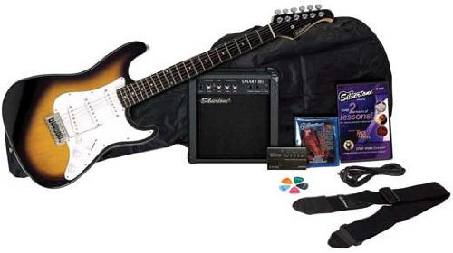 Silvertone Revolver SS11 Electric Guitar and Amp Pack, Sunburst