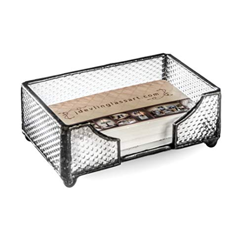 - J Devlin CRD 111 Stained Glass Business Card Holder Tray