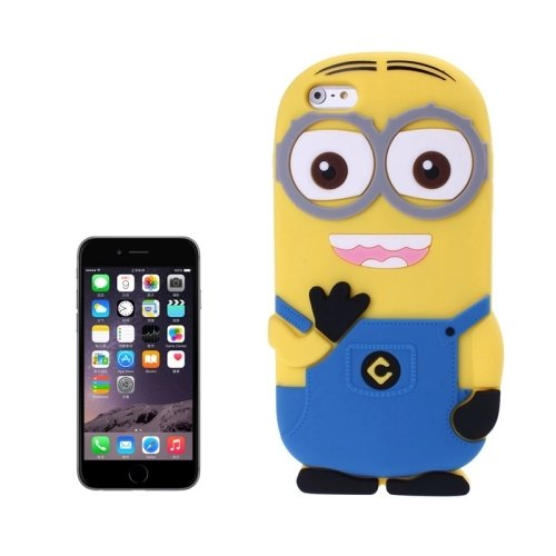 Generic 3D Despicable Me II Minions Style Silicone Case for iPhone 6 (Blue)