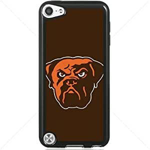 NFL American football Cleveland Browns Fans Apple iPod Touch iTouch 5th Generation Hard Plastic Black or White cases (Black)