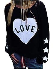 pour Capuchontrui voor dames, casual T-shirt met split aan de zijkant en V-hals met V-hals, lang tuniek, T-shirt, jas, herfst en winter, pullover voor feestjes, reizen