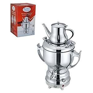 3 liter stainless steel electric samovar for Alpine cuisine samovar