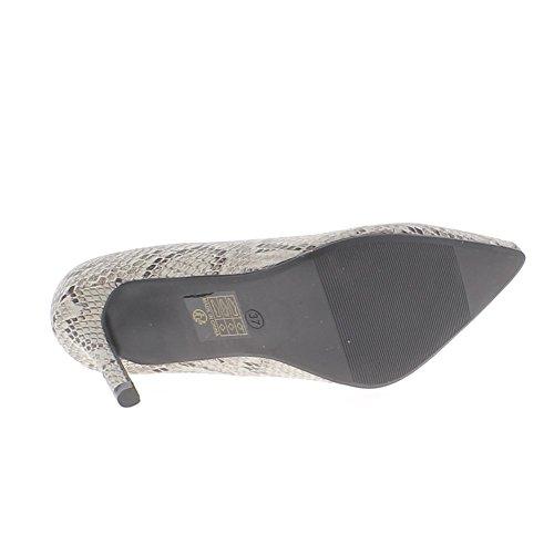 consejos serpiente mirada beige de 10cm fuerte con cuero tacón fino Zapatos 0Hwa5qUf5