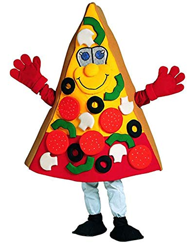 Krister Yellow Pizza Mascot Costume Adult Halloween Costume