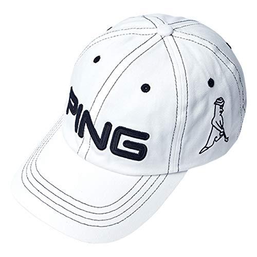 PING ピン コットン アンストラクチャー 6パネル キャップ Mr.PING White/Black 33956 日本正規品