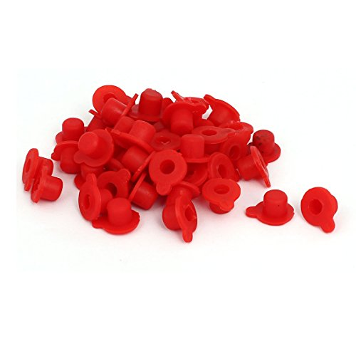 (Aexit DR M8 Audio & Video Accessories PVC Flange Mounted Tapered Caps Stoppers Connectors & Adapters Red 50pcs)