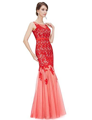 Ever-Pretty - Vestido - para mujer Vermillion