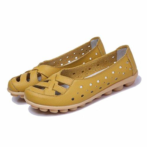 Moonwalker Mocasines de Cuero Mujer Verano 2017 Nuevo Modelo Amarillo