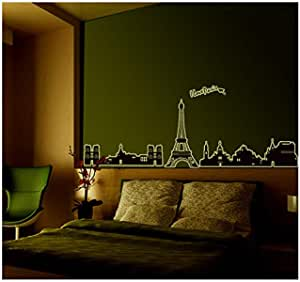 Paris Night Wall Sticker For Kid Room 3d Wall Decals Wall Decoration