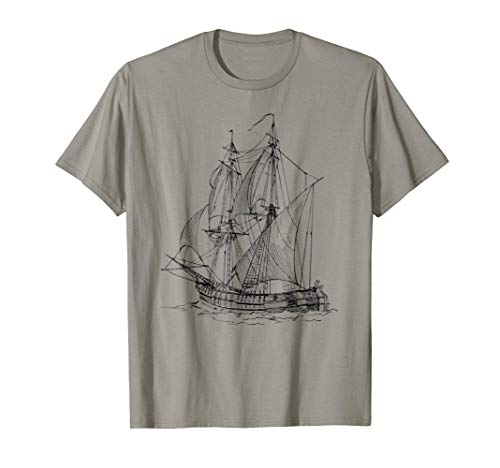 Old Pirate Ship Sketch T-Shirt