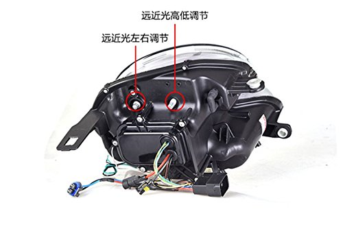 GOWE Car Styling Car Styling For BMW mini R56 headlights 2007-2013 For R56 head lamp led DRL front Bi-Xenon Lens Double Beam Color Temperature:4300k;Wattage:35w 2