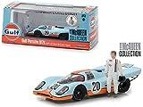 Greenlight 1: 43 Steve McQueen Collection - Gulf Porsche 917K with Steve McQueen Figure