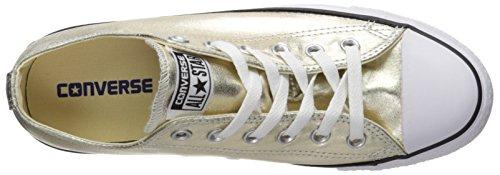 Converse Mens Chuck Taylor All Star Oxford Fashion Sneaker Oro / Bianco / Nero