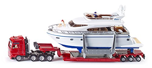 1:87 Siku Low Loader Transporter With Yacht