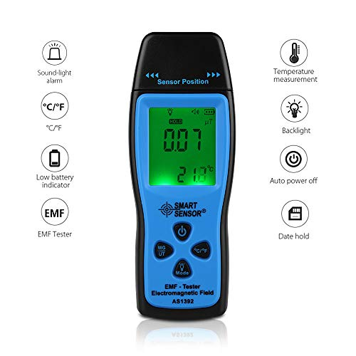 - EMF Meter Electromagnetic Field Radiation Detector Handheld EMF Meter and Detector Digital LCD Display EMF Sensor Radiation Dosimeter