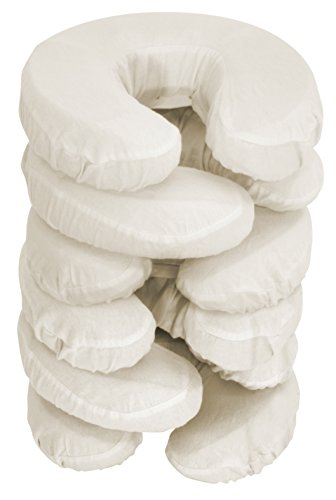 Master Massage Pillow Covers, 6 Pack, beige (Rest Face Fleece Cover)