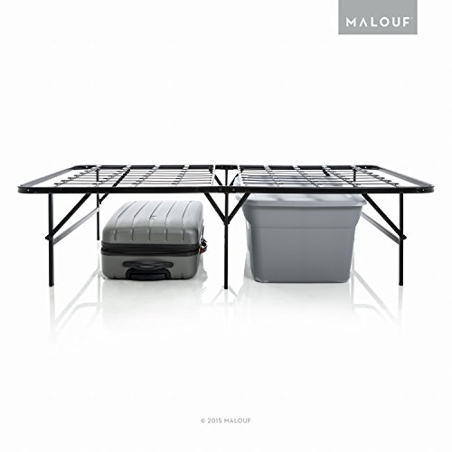 amazoncom structures highrise foldable bed frame mattress foundation 18 deluxe height full size kitchen dining - High Queen Bed Frame