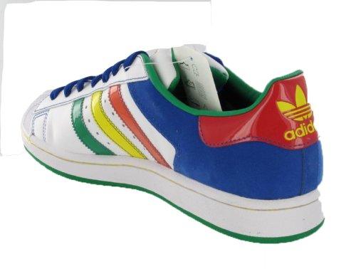 Scarpe Adidas Superstar Ii Cb Uomo Bianco / Multicolore Taglia 11.5