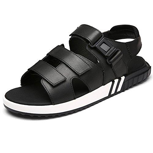 SUNROLAN Männer Frauen Unisex Paar Lässige Outdoor Wasser Atmungsaktiv Sport Sport Sandalen Schuhe Style1-schwarz