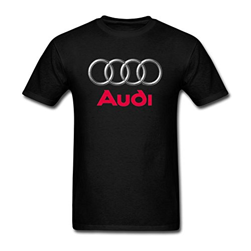 DLQUEEN Men's audi logo Adult T-Shirt Tee Size M Black