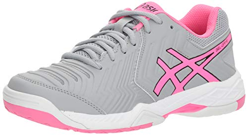ASICS E755Y Women's Gel-Game 6 Running Shoes, Mid Grey/Hot Pink/White - 8.5 B (M) US ()