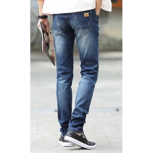 1e65d402f xiaokong Men Straight Slim new Korean version of casual jeans 30%OFF ...