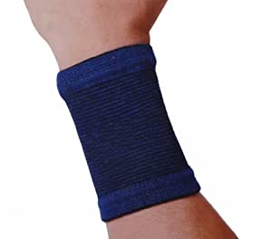 owfeel 1 pair knitting elastic wrist bands wrist support wrist wrap blue hand and. Black Bedroom Furniture Sets. Home Design Ideas