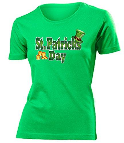 ST.PATRICKS DAY - Kobold - Kleeblatt - Irland - 17 März mujer camiseta Tamaño S to XXL varios colores Verde