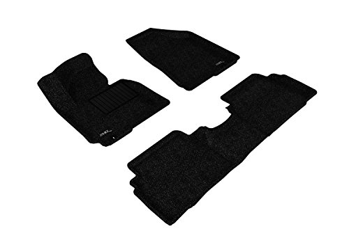 3D MAXpider All 2 Row Custom Fit Floor Mat for Select Hyundai Tucson Models - Classic Carpet (Black)