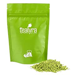 Tealyra organically grown pure matcha green tea powder is a unique natural product with a high level of chlorophylls which is beneficial for people thanks to its antioxidants.   The higher level of nutritious substances in matcha tea is achie...