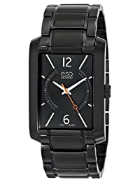 ESQ Movado Men's 07301411 esq Synthesis tm Rectangular Black Ion-Plated Watch