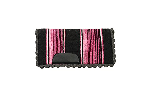 Weaver Leather Pony Felt Lined Navajo Saddle Pad, Pink, 23