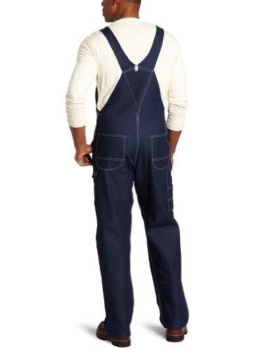 Key Apparel  Men's Garment Washed Zip Fly High Back Bib Overall - 38W x 32L - Indigo Denim by Key Apparel (Image #2)