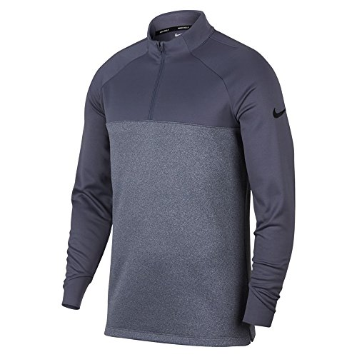 Nike Therma Fit Top Half Zip Core Golf Pullover 2018 Light Carbon Heather  Black 233cd8491f9a