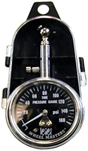 Wheel Masters 8216 Dual Tire Pressure Gauge with Quick Release Air Button - 160 lb.