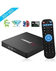 Turewell Android TV Box,T95Z MAX Android 7.1 TV Box Amlogic S912 Octa Core 2GB RAM 16GB ROM, Android Box soporta 2.4G / 5G WiFi 1000M LAN 4K 3D con Control Remoto