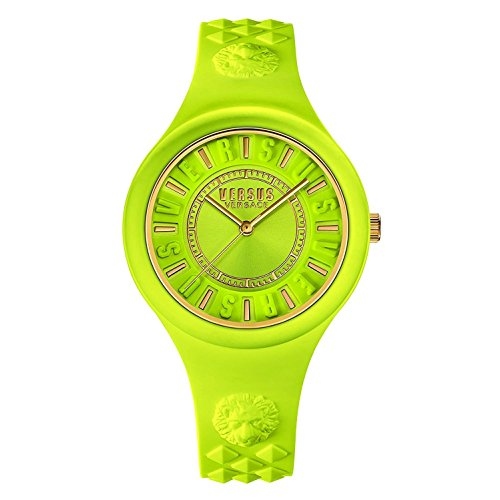 Versus by Versace Women's SOQ060015 Fire Island Analog Display Quartz Yellow Watch