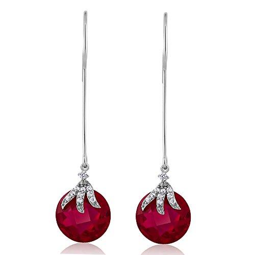 Gem Stone King 925 Sterling Silver Long Dangle Drop Earrings For Women (12MM)