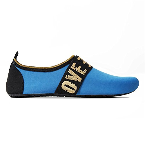 Water Women 41 Shoes Aqua Quick Men Swim Blue 5 Slip Socks Love01 EU40 Beach Surf On 7 Yoga Dry for UK6 Barefoot 5 rr6BS