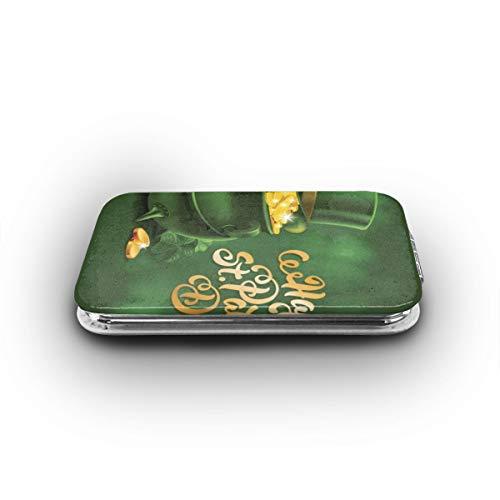 Cookfun St. Patrick's Day, Large Pot of Gold Leprechaun Hat Makeup Mirror Mini Pocket Mirror (Rectangle) -