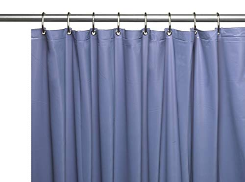 Hotel Collection Heavy Duty Mold & Mildew Resistant Premium PEVA Shower Curtain Liner with Rust Proof Metal Grommets - Assorted Colors (Slate Blue) (Slate Green Shower Curtain)