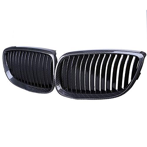FidgetKute for BMW E92 M3 E93 3-Series 328i 335i Carbon Fiber Look Front Grill Grille 06-10