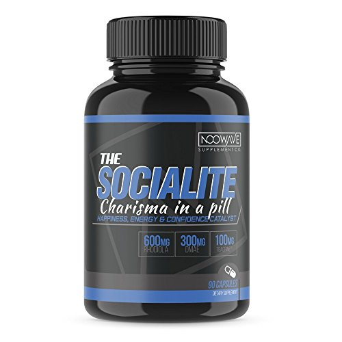 Theacrine Infused Brain Booster by NooWave Supplement Co. | The Socialite Nootropic is Formulated to be The Ultimate Euphoria Supplement, Helping to Increase Mood, Focus, and Adrenal Energy (Best Antidepressant For Energy And Focus)