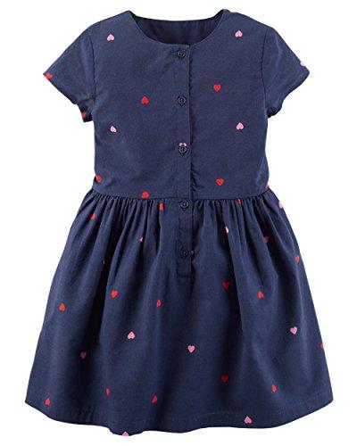 - Carter's Toddler Girl's Jersey Dress (2T, Navy/Heart)
